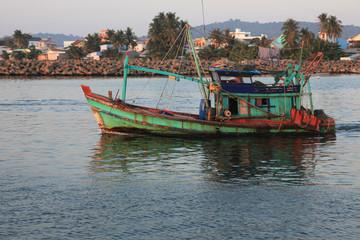 fisherman's boat goes to sea