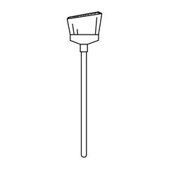 sweep broom isolated icon