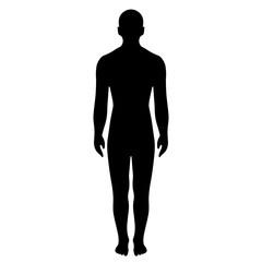Man full length silhouette vector illustration