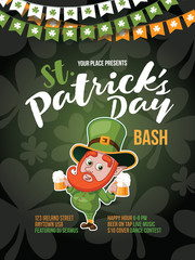 Saint Patrick's Day party background design. EPS10 vector illustration.