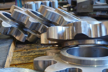 gear on the rack after milling