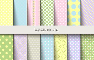 Easter patterns polka dot spring background
