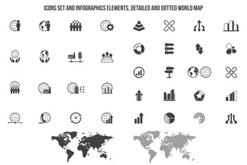 Simple Set of Business Related Vector Icons.