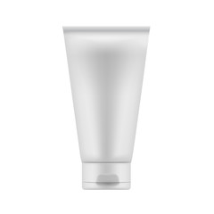 Tube Of Cream Or Gel Grayscale Silver White Clean. Ready For You
