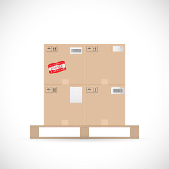 Boxes on Pallet Illustration