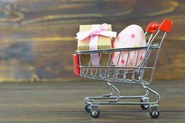 Easter shopping cart