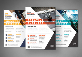 Business Flyer Layout with Colorful Accents 2