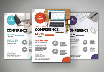 Business Flyer Layout with Colorful Accents 1