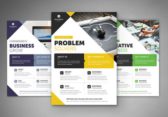 Business Flyer Layout with Colorful Accents 3