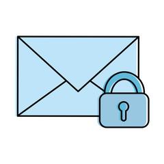 envelope mail with padlock