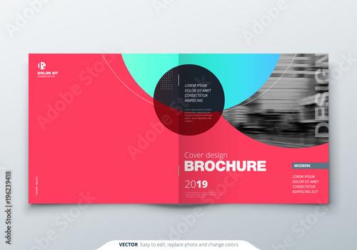square brochure design magenta corporate business rectangle template brochure report catalog magazine
