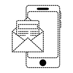 smartphone device with envelopes
