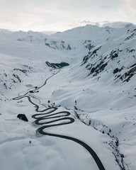 Julier Pass in the Swiss Alps (Switzerland)
