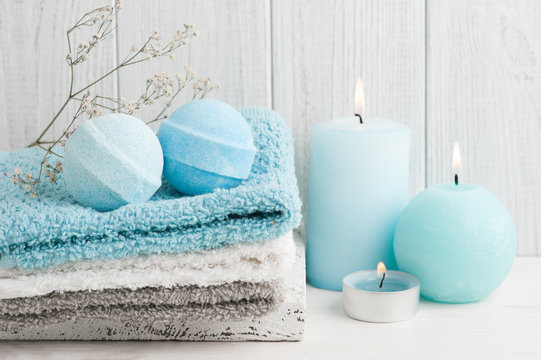 SPA composition with bath bombs