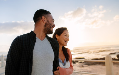 Couple on a vacation near the sea