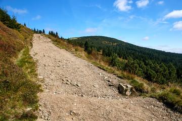 tourist trail in National Park Krkonose