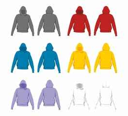 Colorful sweatshirts