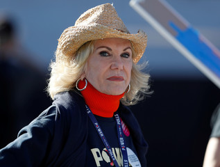 Elaine Wynn, ex-wife of casino owner Steve Wynn, is shown during a Women's March rally in Las Vegas