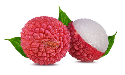 Fototapete - lychee isolated on white background