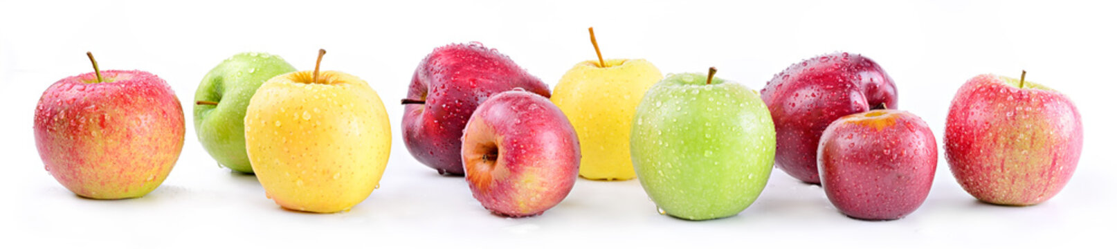 Apple varieties: annurca, stark delicious, fuji, granny smith, golden delicious, royal gala