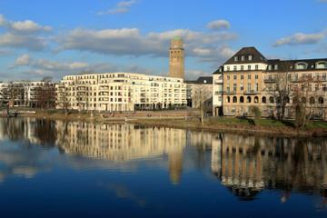 Stadtansicht von Mühleim adR über die Ruhr