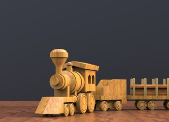 3d rendering toy train background