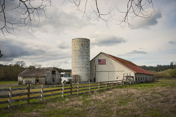 Old Barn with silo