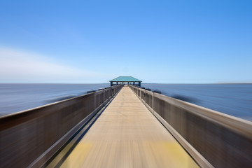 Mississippi Ocean Springs Beach Pier with motion blur