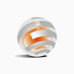 core round, icon, logo, technology, network, globe,