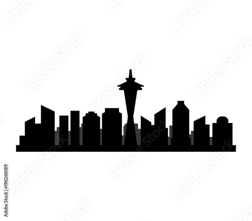 seattle skyline stock image and royalty free vector files on rh fotolia com  seattle skyline vector free