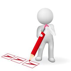 Checklist 3d man vector logo image