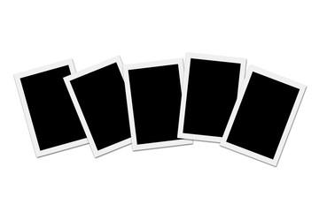 Blank photos on White background