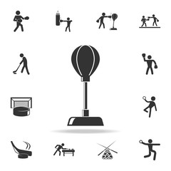Punching bag icon. Detailed set of athletes and accessories icons. Premium quality graphic design. One of the collection icons for websites, web design, mobile app