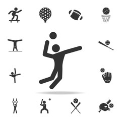 Volleyball player icon. Detailed set of athletes and accessories icons. Premium quality graphic design. One of the collection icons for websites, web design, mobile app