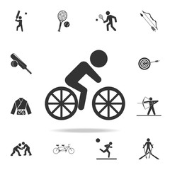 cyclist icon. Detailed set of athletes and accessories icons. Premium quality graphic design. One of the collection icons for websites, web design, mobile app