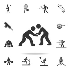 wrestling icon. Detailed set of athletes and accessories icons. Premium quality graphic design. One of the collection icons for websites, web design, mobile app