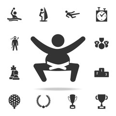 Sumo wrestler icon. Detailed set of athletes and accessories icons. Premium quality graphic design. One of the collection icons for websites, web design, mobile app