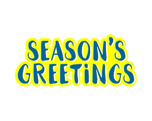 seasons greetings typography typographic creative writing text image 1