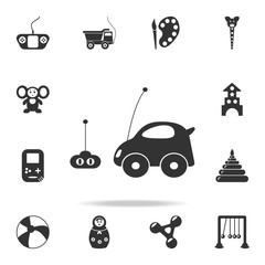 car toy with remote control icon. Detailed set of baby toys icons. Premium quality graphic design. One of the collection icons for websites, web design, mobile app