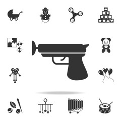 toy gun with Velcro icon. Detailed set of baby toys icons. Premium quality graphic design. One of the collection icons for websites, web design, mobile app