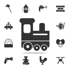 childrean train icon. Detailed set of baby toys icons. Premium quality graphic design. One of the collection icons for websites, web design, mobile app