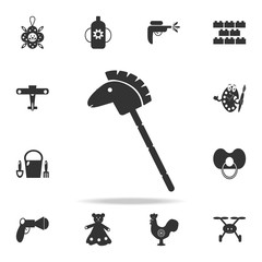 Horse stick silhouette toy icon. Detailed set of baby toys icons. Premium quality graphic design. One of the collection icons for websites, web design, mobile app