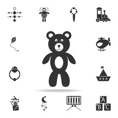 Teddy bear plush toy icon. Detailed set of baby toys icons. Premium quality graphic design. One of the collection icons for websites, web design, mobile app