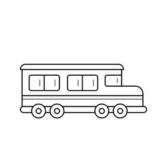 School bus vector line icon isolated on white background. Public transport for children - school bus line icon for infographic, website or app.