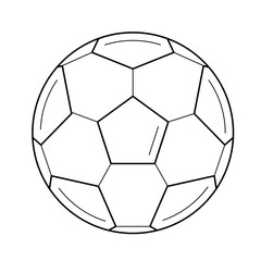 Soccer ball vector line icon isolated on white background. Sports equipment - football ball line icon for infographic, website or app.