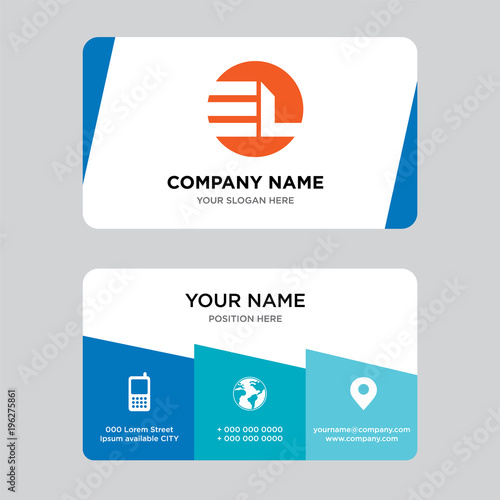El Le Business Card Design Template Visiting For Your Company Modern Creative And Clean Ideny Vector Ilration