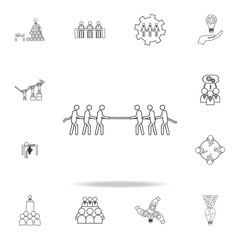 team game pull a rope icon. Detailed set of team work outline icons. Premium quality graphic design icon. One of the collection icons for websites, web design, mobile app