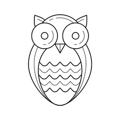 Wisdom owl vector line icon isolated on white background. Owl bird symbolizing wisdom line icon for infographic, website or app.