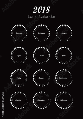 Moon Phases Calendar.Moon Phases Calendar Vector Stock Image And Royalty Free Vector