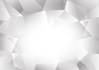 Gray and white color polygon abstract background with copy space, Vector illustration for your business eps10